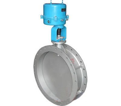 electric adjusting ventilation butterfly valve