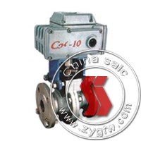 electric O type cut-off ball valve