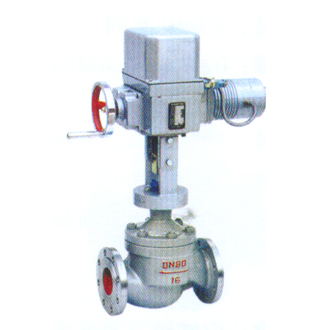Electric two-seat control valve